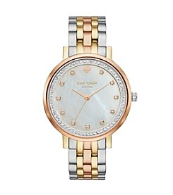 kate spade new york® Tri Tone Stainless Steel Monterey Watch