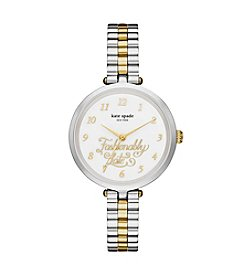 kate spade new york® Two Tone Stainless Steel Holland Watch