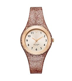 kate spade new york® Glitter Silicone Rumsey Watch