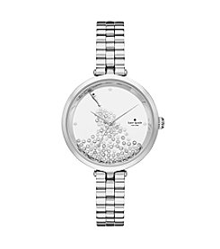 kate spade new york® Silvertone Champagne Bottle Watch