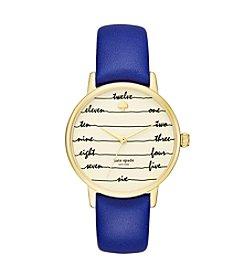 kate spade new york® Nightlife Leather Strap Metro Watch
