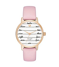 kate spade new york® Leather Strap Metro Watch