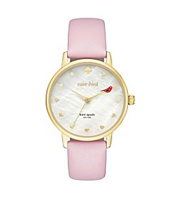 kate spade new york® Leather Strap Metro Bird Watch