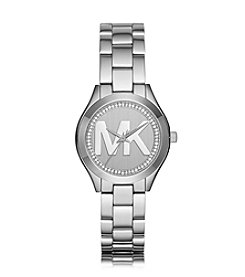 Michael Kors® Mini Slim Runway Stainless Steel Three Hand Watch