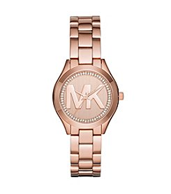 Michael Kors® Mini Slim Runway Rose Goldtone Three Hand Watch