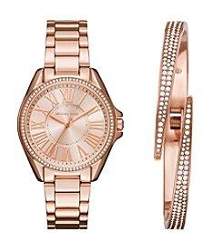Michael Kors® Kacie Rose Goldtone Watch and Bangle Gift Set