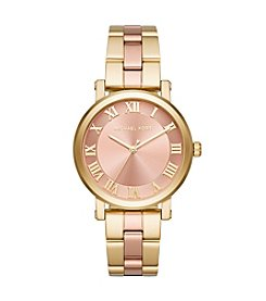 Michael Kors® Norie Two Tone Three Hand Watch