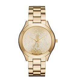 Michael Kors® Slim Runway Goldtone Three Hand Watch