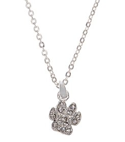 Pet Friends™ Crystal Pave Paw Pendant