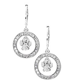 Pet Friends™ Crystal Paw Drop Earrings