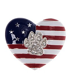 Pet Friends™ Flag Heart Pin