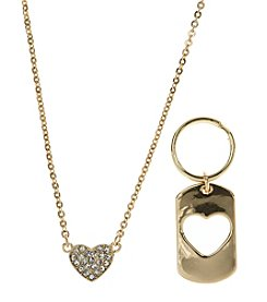 Pet Friends™ Crystal Heart Pendant and Charm