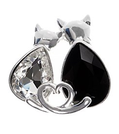 Pet Friends™ Silvertone Cats Pin