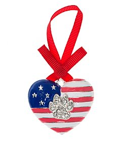 Pet Friends™ Flag Heart Ornament