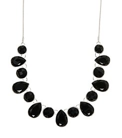 Nine West® Black Stone Frontal Necklace