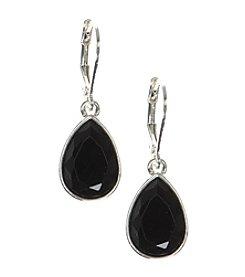 Nine West® Black Teardrop Earrings