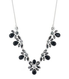 Nine West® Silvertone Frontal Necklace
