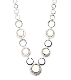Nine West® Two Tone Ring Collar Necklace