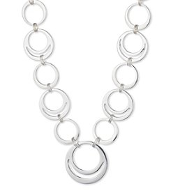 Nine West® Silvertone Ring Collar Necklace