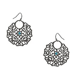 Erica Lyons® Filigree Pierced Earrings