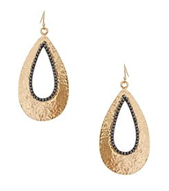 Erica Lyons® Open Teardrop Earrings