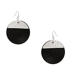 Erica Lyons® Drop Disk Pierced Earrings