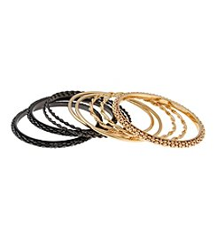 Erica Lyons® Thin Bangle Bracelet Stack