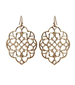 Erica Lyons® Filigree Drop Pierced Earrings