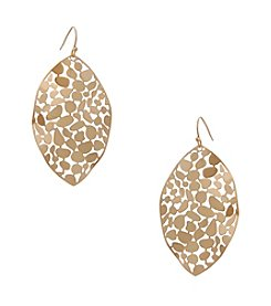 Erica Lyons® Navette Drop Pierced Earrings
