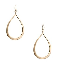 Erica Lyons® Tapered Open Teardrop Earrings