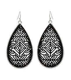Erica Lyons® Long Teardrop Pierced Earrings
