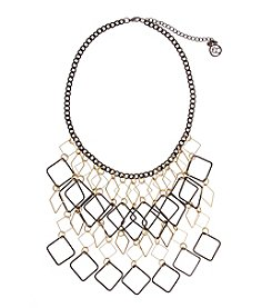 Erica Lyons® Open Diamond Fringe Front Necklace
