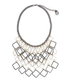Erica Lyons® Open Diamond Fringe Front Necklace