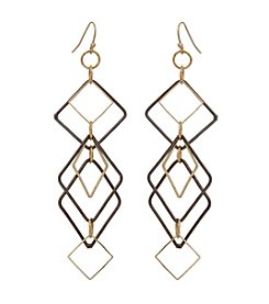 Erica Lyons® Open Diamond Fringe Earrings