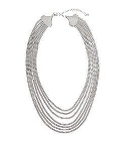 Erica Lyons® Silvertone Box Chain Necklace