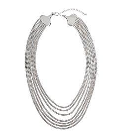 Erica Lyons® Silvertone Box Chain Necklace