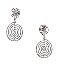 Erica Lyons® Swirl Drop Clip Earrings