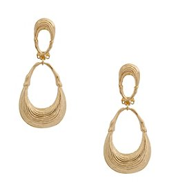 Erica Lyons® Drop Graduated Loop Clip Earrings