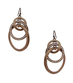 Erica Lyons® Triple Ring Pierced Earrings