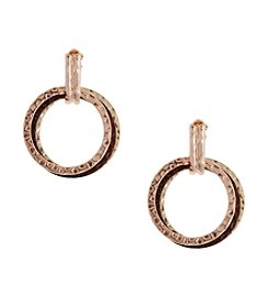 Erica Lyons® Triple Ring Clip Earrings