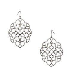 Erica Lyons® Filigree Drop Pierced Earrings