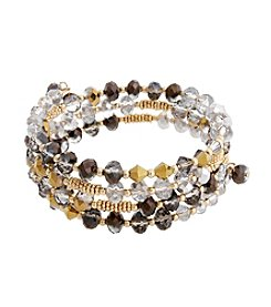 Erica Lyons® Meet Me In Glitzerland Beaded Coil Bracelet