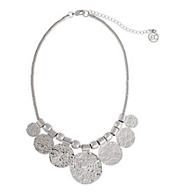 Erica Lyons® Graduated Disks Frontal Necklace
