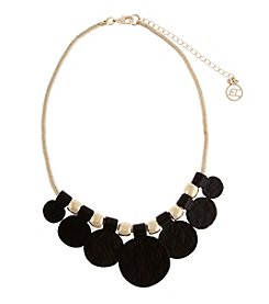 Erica Lyons® Graduated Disks Front Necklace