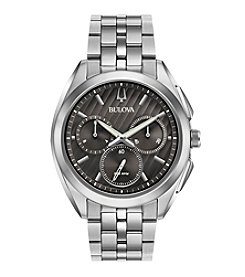 Bulova® Men's Curv Collection Stainless Steel Watch