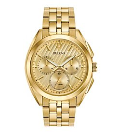 Bulova® Men's Curv Collection Goldtone Watch