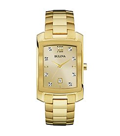 Bulova® Diamond Collection Goldtone Watch