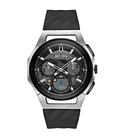 Bulova® Men's Curv Collection Black Watch
