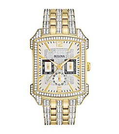 Bulova® Crystal Collection Two Tone Watch