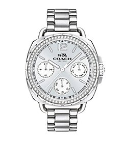 COACH TATUM STAINLESS STEEL SUNRAY DIAL WATCH